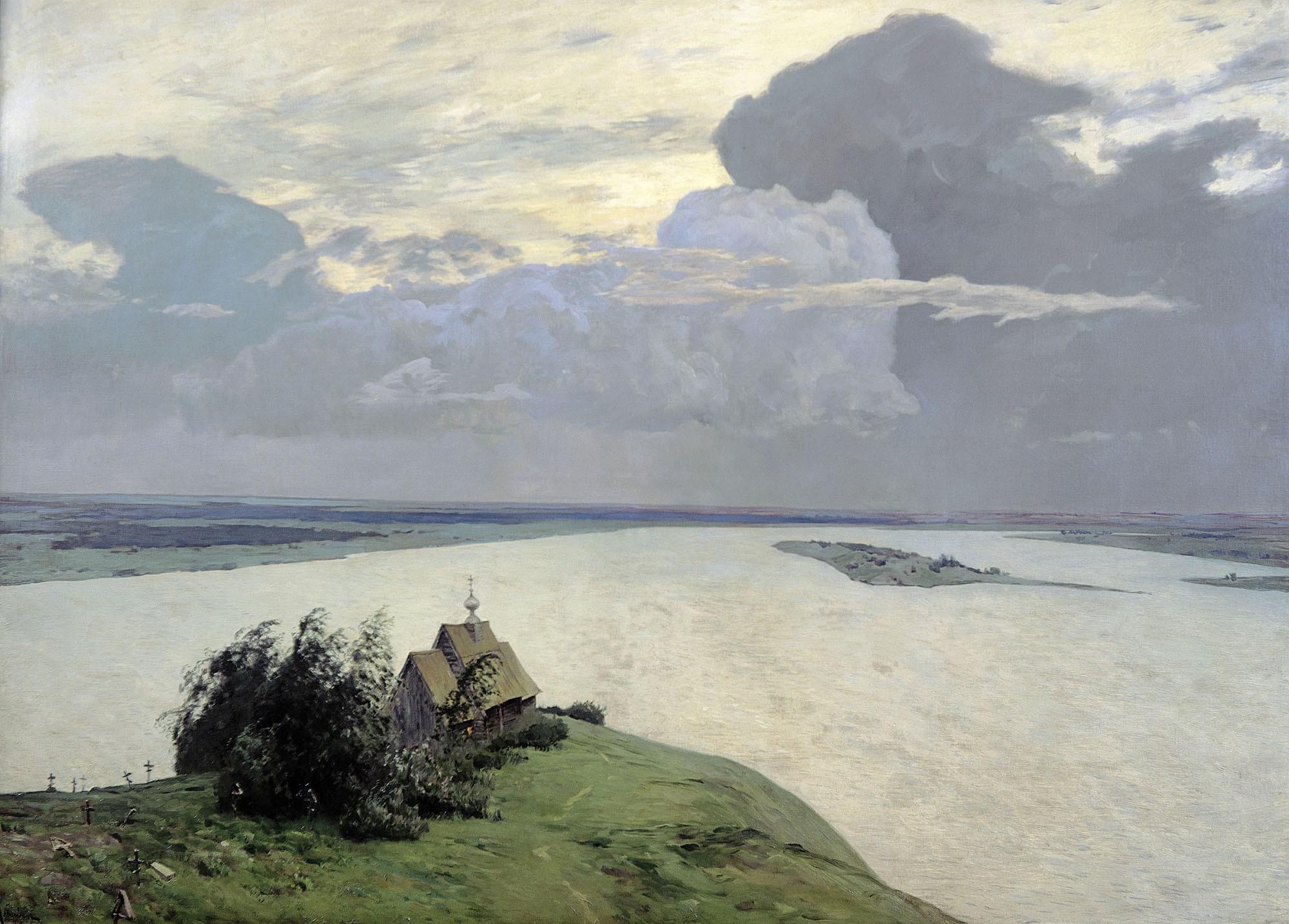 Above the eternal peace, Isaak Levitan, 1894